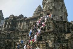 Angkor Wat - Steil hinauf