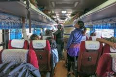 Im Bus nach Phnom Penh