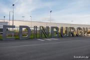 Am Flughafen Edinburgh