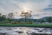 Sunset auf dem Argyll Caravan Park