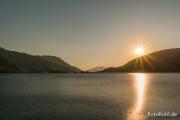 Sunset am Loch Leven.