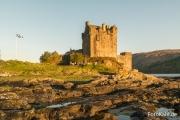 Sunset über dem Eilean Donan Castle.