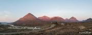Blick auf den Glamaig ein Berg der Red Cuillins. Davor der Sligashan Camp Site.