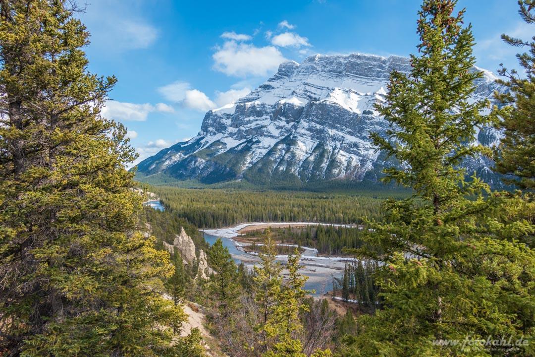 Kanada - Banff - Hoodoos Viewpoint