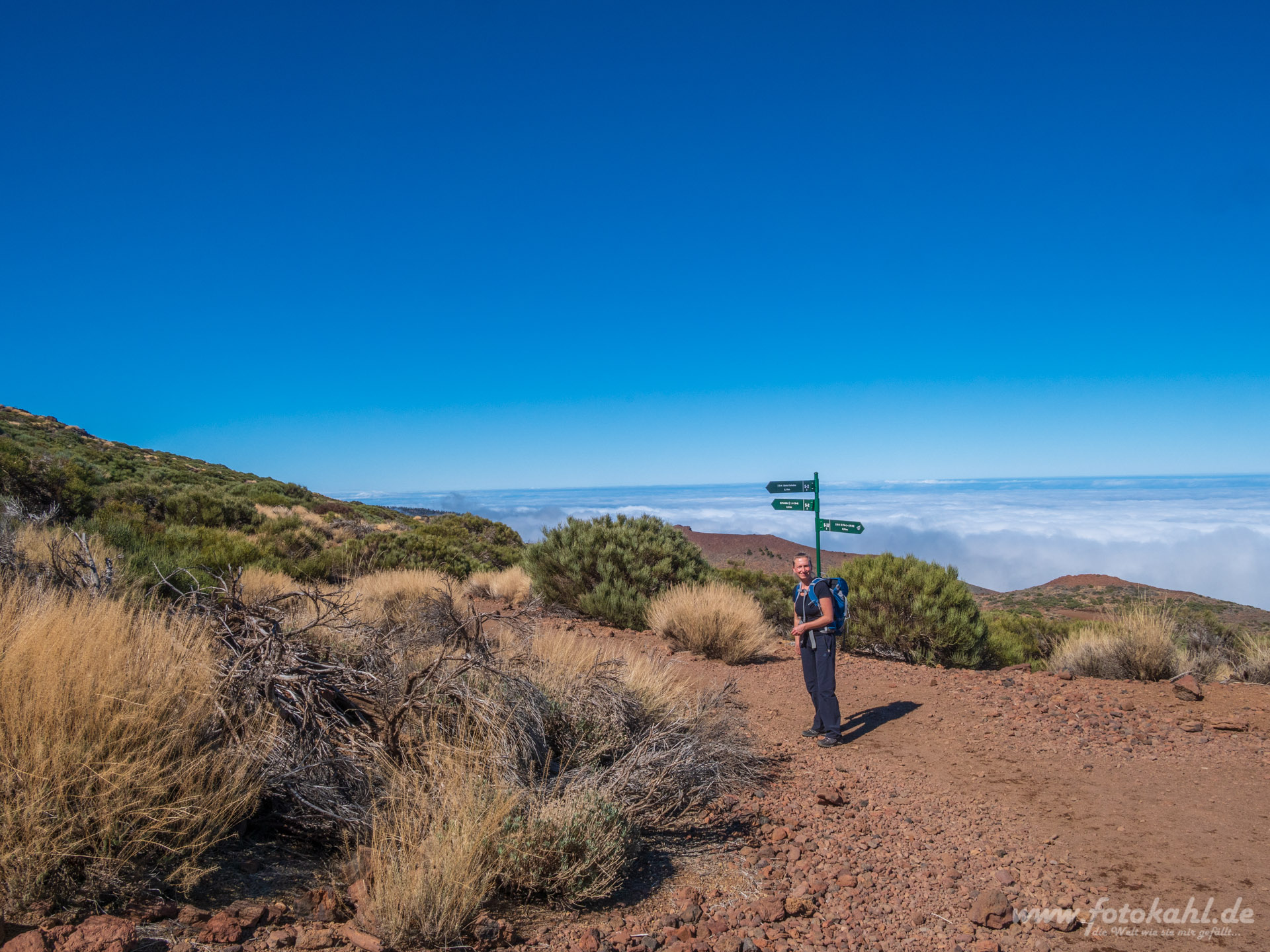 Teneriffa - Wandern im Nationalpark.