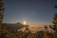 Teneriffa - Mirador de Chipeque zum Sonnenuntergang.