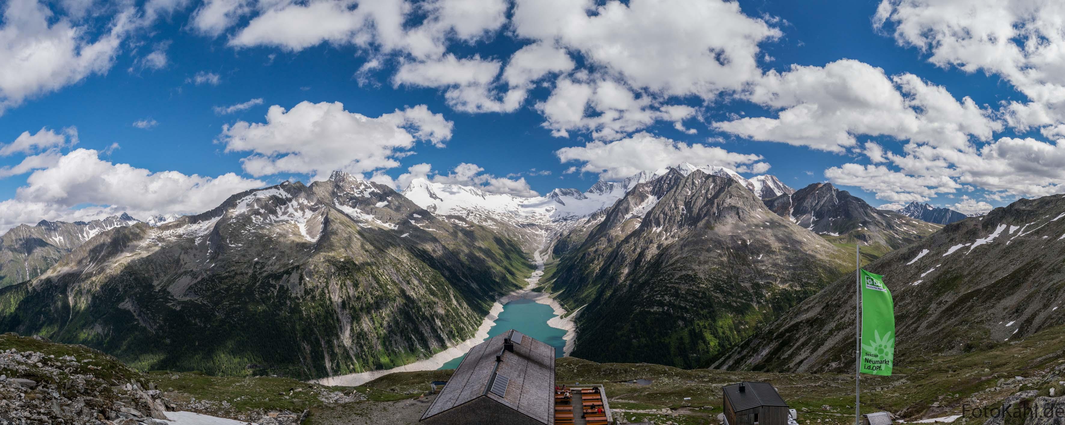 Schlegeisspeicher mit Olpererhütte - Zillertaler Alpen