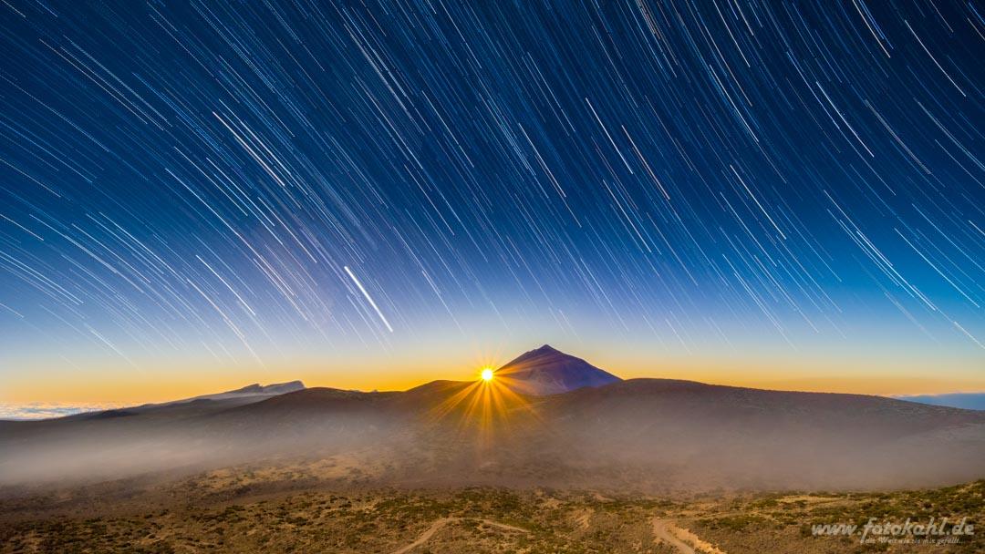 Sonnenuntergang im Teide Nationalpark